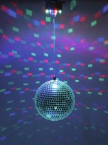 LED Mirror Ball 20cm with Motor FC